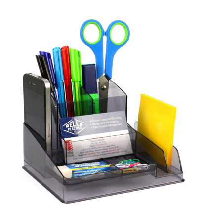 Picture of DESK ORGANISER ITALPLAST TINTED GREY