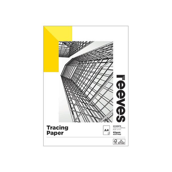 Picture of TRACING PAPER PAD REEVES A4 65GSM 25 SHT