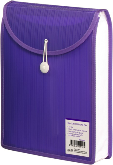 Picture of FILE ATTACHE BANTEX A4 TOP OPENING VIOLET
