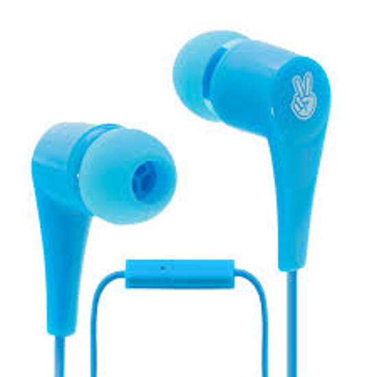 Picture of EARPHONES TIKKITI WITH MICROPHONE BLUE