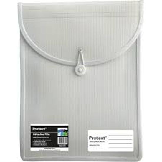 Picture of FILE ATTACHE PROTEXT TOP OPEN ELASTIC CLOSE WHITE